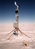 An automated weather station.